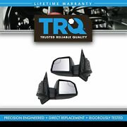 Trq Mirror Power Heated Led Turn Signal Textured Black Set Of 2 For Ford