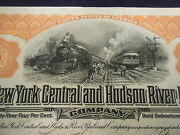 1920s New York Central And Hudson River Railroad 10000 4 20 Year Gold Debenture