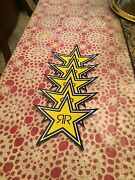 5 Authentic New Rockstar Energy Drink Stickers / Sign / Decal Star Bmx Motocross