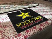 Authentic Rockstar Energy Drink Window Sign Plaque Decals Stickers Monster Rare