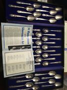 34pc-wm.rogers American Presidents Commenorative Silver Plate Spoon Collection