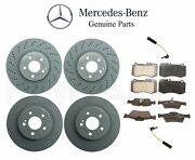 For Mercedes W212 E550 Sedan 10-11 Front And Rear Disc Rotors Pads And Sensors Oes