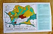 Vintage Map Cal State Hayward Ca College Community Plan Single Family 1968