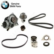 For Bmw F06 F07 Water Pump And Gasket With Belts Thermostat And Crankshaft Seals Oes