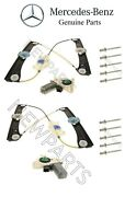 For Mercedes W221 S600 Front Left And Right Window Motors W/ Regulators And Rivets