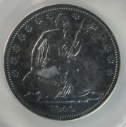 1840 Seated Liberty Half Dollar Small Letters Anacs Ef 40 Details [543] T4