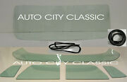 1956 Ford Pickup Truck Glass Windshield Vent Door Back Gaskets W/o Chrm Green