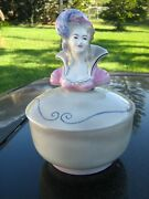 Goldscheider Vintage Show Girl Top Covered 10 Bowl 2 Pieces Hand Painted