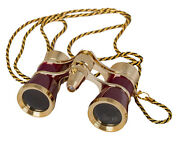 Levenhuk Broadway 325f Opera Glasses With Led Light And Chain Red Version