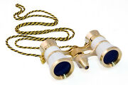Levenhuk Broadway 325f Opera Glasses With Led Light And Chain White Version