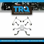 Trq 8 Pc Steering Suspension Kit Control Arms Outer Tie Rods Sway Bar Links New