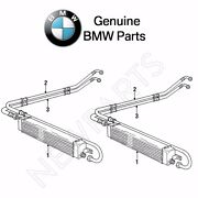 For Bmw E30 325i 325is 325ix Pair Set Of Outlet And Inlet Oil Cooler Lines Genuine