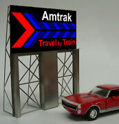 Miller Engineering Amtrak Travel By Train Neon Sign Kit Ho/o Scale Train Mie8281