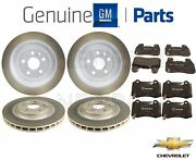 Front And Rear Brake Pad Sets And 2 Disc Rotors Kit Genuine For Chevy Camaro Ss V8