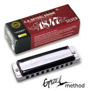 Pt Gazell Valved Seydel 1847 Silver Stainless Steel Reed Harmonica -pick A Key