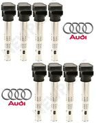 For Audi Rs4 Rs5 Set Of 8 Ignition Coils W/ Spark Plug Connector 07k 905 715 G