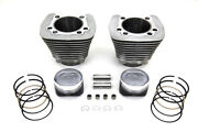 Vtwin 1200cc Cylinder And Piston Conversion Kit Silver For Harley Sportster 86-03
