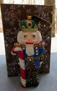 Jay Strongwater Candy Cane Nutcracker Ornament W Elements New In Box