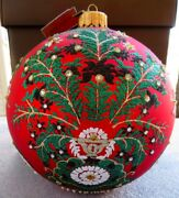 Jay Strongwater Artisan Tree Of Paradise Siam Red 7 Glass Ornament New In Box