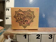Happy Valentines Day With Doily Psx Rubber Stamp 3k