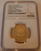 Great Britain 2008 Gold 2 Sovereign Pounds Ngc Pf69uc Beijing - London Olympics