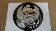 New Live To Ride Fuel Door Cover 4 Harley Touring Flh 2008 And Later Models
