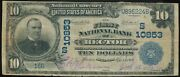 1902 Plain Back 10 National Currency First Nat. Bank Of Rector Ar Ch. 10853