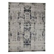 8and03910x11and0398 Soft And Plush Handmade Abstract Design Wool And Silk Rug R39948