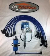 Small Block Ford 289-302 Blue Small Hei Distributor45k Coil + Plug Wires Usa