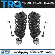 Trq 4pc Suspension Kit Complete Strut And Spring Assemblies W/ Sway Bar End Links