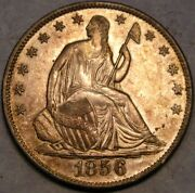 1856/1856 O Liberty Seated Silver Half Dollar High Quality Appealing Rare Wb-102