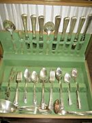 86 Pieces Spring Garden Silver Plate Flatware Set Holmes And Edwards