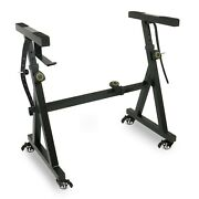 Plixio Heavy Duty Z Style Keyboard Piano Stand Adjustable And Portable With Wheels