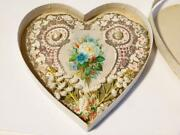 1876 Valentine Card Paper Lace And Shell Love Heart Shaped All Original 1