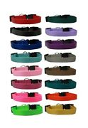 Nylon Dog Collar Bulk Packs Assorted Colors Choose Size And Amount Rescue Shelter