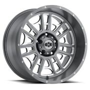 20 Vision 418 Widow Grey Milled Wheel 20x12 8x170 -51mm Lifted For Ford Truck