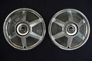 1965 Ford Mustang Fastback Convertible Coupe Hubcaps Pair For21