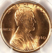 1910 1c Ms66rd Pcgs-only 43 In Higher Grade-pq-lincoln Cent
