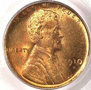 1910-s 1c Ms65rd Pcgs-only 96 In Higher Grade-well Struck With Lots Of Mint Red