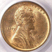 1909-s/s 1c S/horizontal S Ms64rd Pcgs-only 303 In Higher-sharp Looking