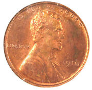 1910 1c Pr64rb Ngc-great Color And Strike-95 Rer- Lincoln Cent