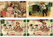 Dogs With Children 24 Vintage Postcards Mostly Embossed