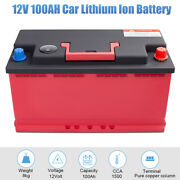 Hot 12v 100ah 2100cca Lithium Iron Phosphate Battery Lifepo4 For Auto With Bms