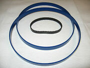 2 Blue Max Urethane Band Saw Tires And Drive Belt For Shopmaster Bs100 Band Saw