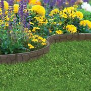 Garden Lawn Edging Flexible Border Shape Wall Path Eco Recycled Rubber And039ezand039 New