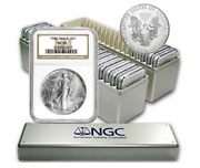 1986 - 2021 Complete 36 Coin American Silver Eagle Set Ngc Ms 69