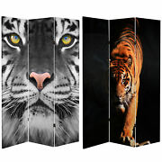 Oriental Furniture 6 Ft. Tall Double Sided Tiger Room Divider