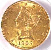 1905-s 10 Ms61 Pcgs-only 64 In Higher Grade-mintage 369250-liberty-10 Gold