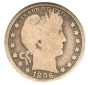 1896-s 25c G4 Ngc-one Of The Key Dates - Great Filter-barber Quarter