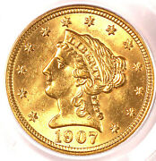 1907 2.50 Ms64 Pcgs-cac And Pq-2.5 Gold Dollar